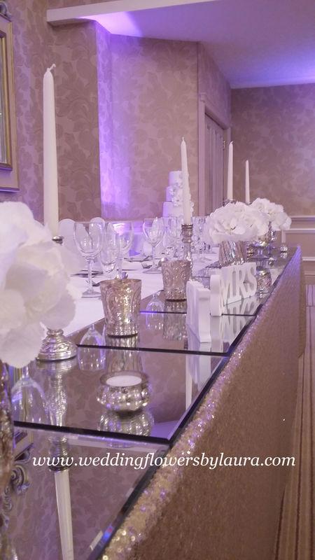 Top Table Arrangements Wedding Flowers By Laura